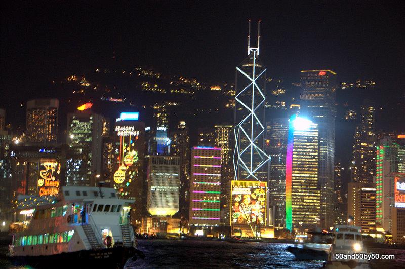 Hong Kong's impressive skyline from the harbour (Tsim Sha Tsui East Promenade)