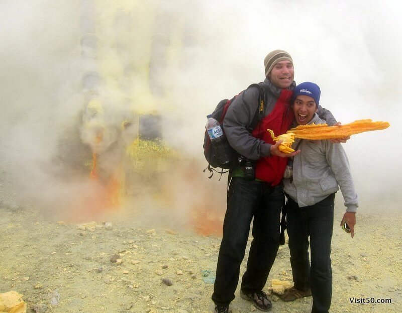 Sulfur mining at Kawah Ijen volcano | Java, Indonesia