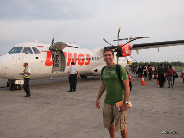 I flew Wings Air to go from Bali via DPS Denpasar airport to SUB Surabaya airport in Java