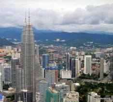 Photos: View of the Petronas Towers from the KL Tower in Kuala Lumpur | Architecture in Malaysia