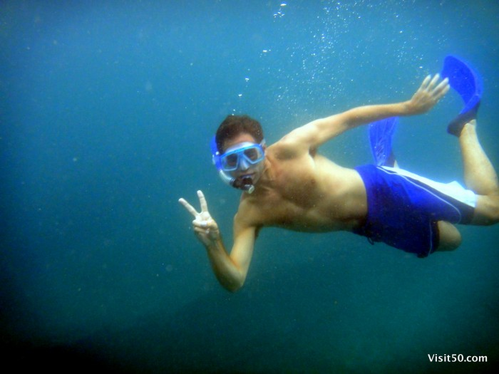 Photo of me while Snorkeling in the Philippines near Malapascua - Visit50.com