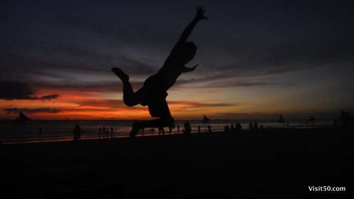 Jumping pics - Boracay sunset