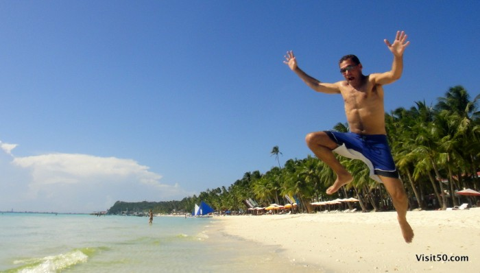 So excited to jump into the water in beautiful Boracay Philippines - 003
