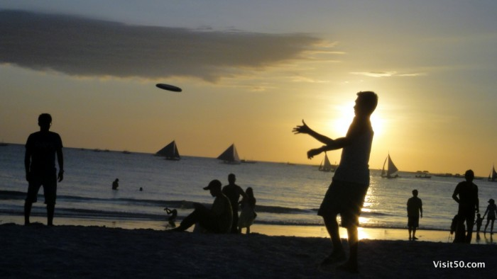 Sunset Silhouettes - Boracay Beach -006