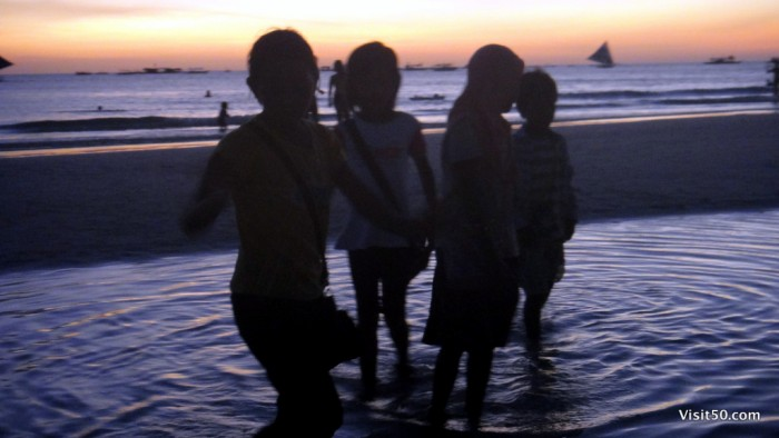 Sunset Silhouettes - Boracay Beach -008