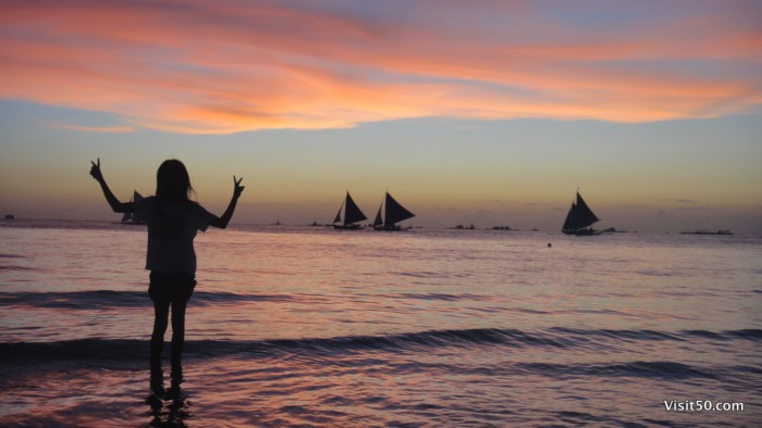Sunset Silhouettes - Boracay Beaches
