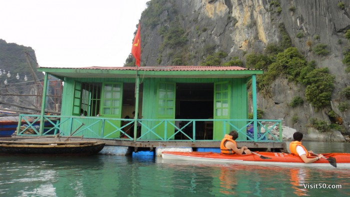 floating school in floating village