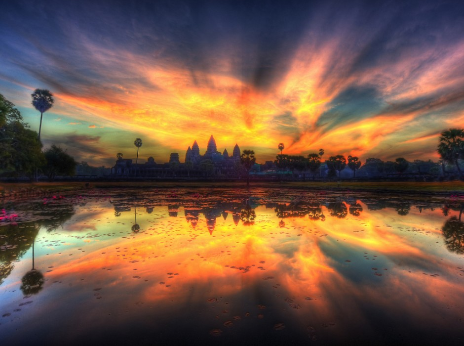 I love this photo! Angkor Wat video tour and this photo are via Matador Network
