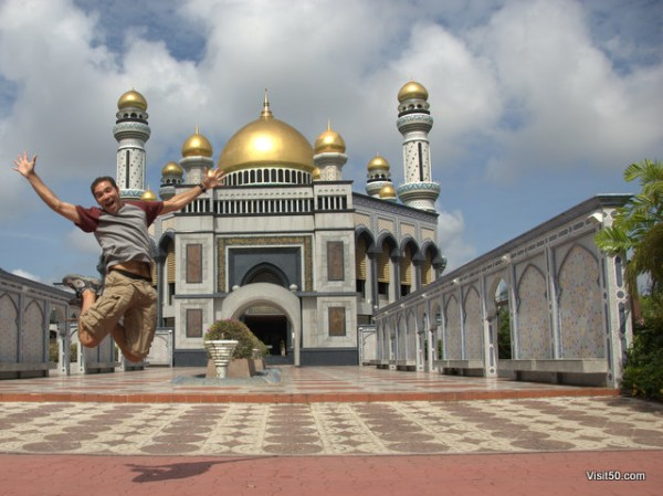 Jumping in Brunei!